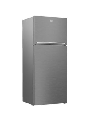 Beko Fridge Top Mount Stainless Steel 400L-RDNE400K30ZX