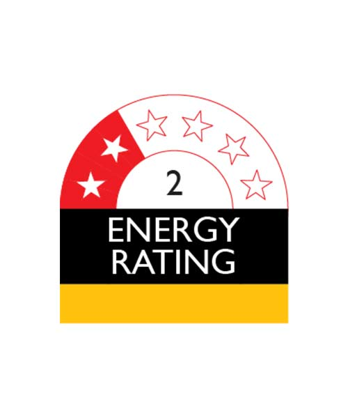 2 Star Energy Rating Beko 610L Fridge GNE60520DX