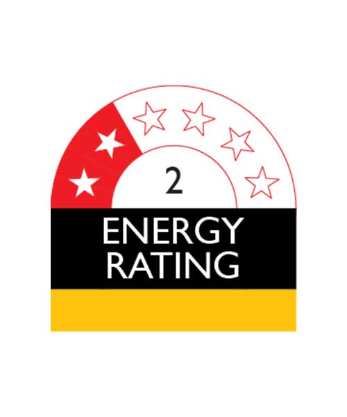 2 Star Energy Rating For Changhong Fridge FTM240A01W