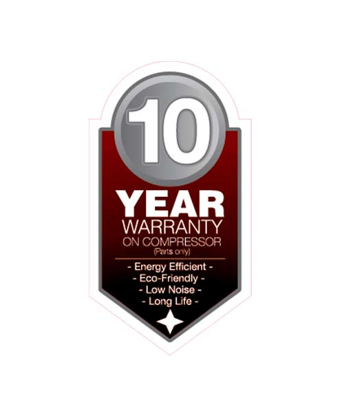 Changhong 10 Year Warranty Sticker