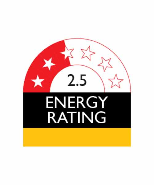 Appliance with 2.5 Star Enery Rating