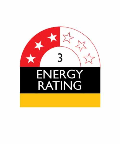 Appliance with 3 Star Enery Rating