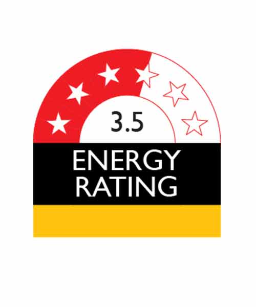Appliance with 3.5 Star Enery Rating