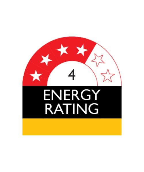Appliance with 4 Star Enery Rating