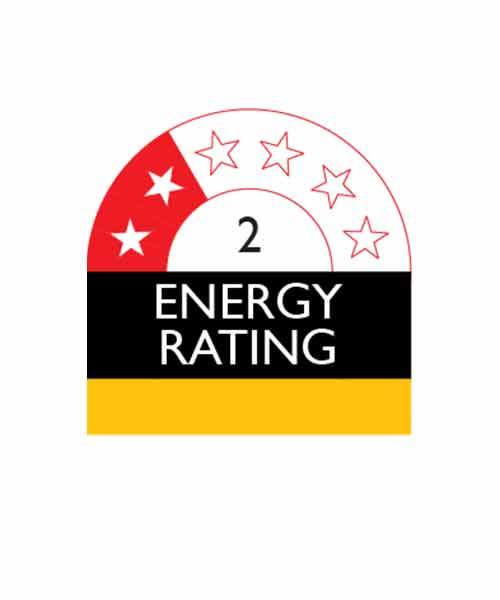 Appliance with 2 Star Energy Rating