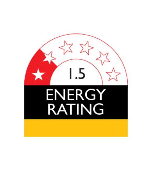 The product has 1.5 Star Energy Rating