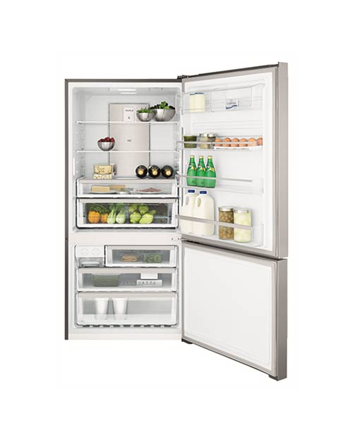 Inside Electrolux Bottom Mount Fridge