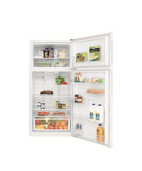Inside view of Kelvinator 540L Top Mount Fridge KTM5402WA