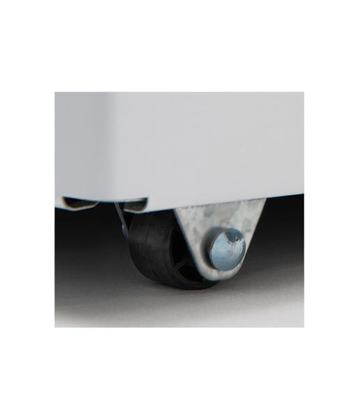 Castor roller on Euro chest Freezer ECF100WH