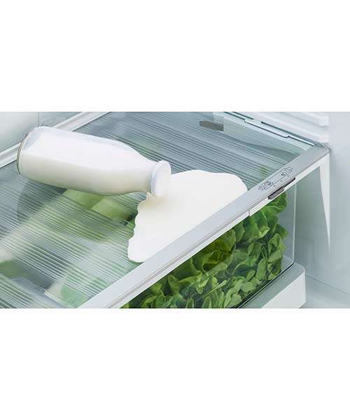 Easy cleaning Fisher and Paykel fridge shelves
