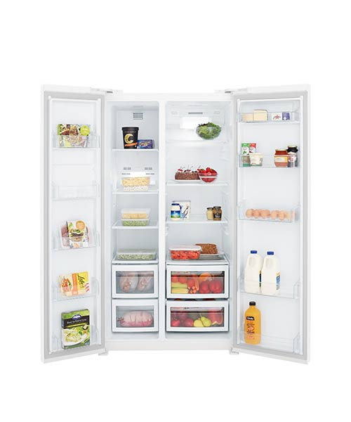 Inside Kelvinator White Side by Side Fridge KSE6200WA