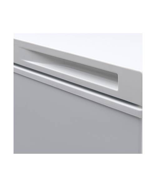 Left handle recessed Euro chest Freezer ECF100WH