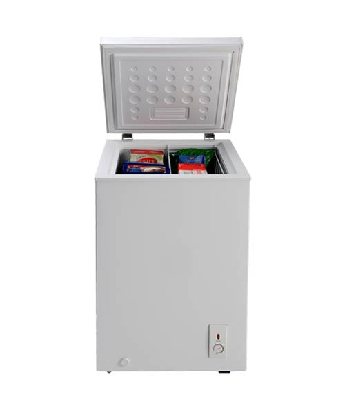 Open lid on Euro 100L Chest Freezer ECF100WH