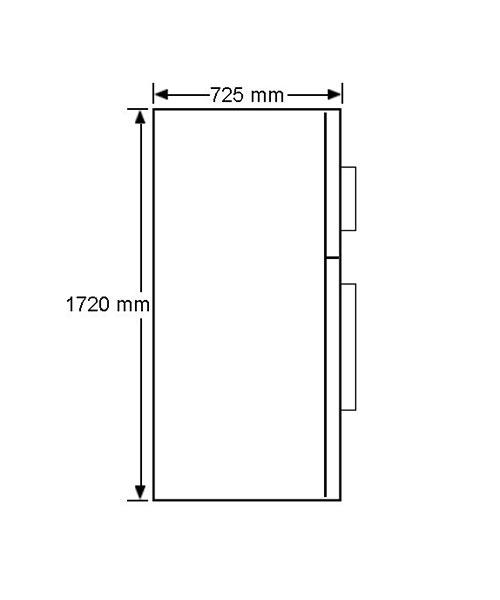 Side dimension for fridge Westinghouse WTM5204SB