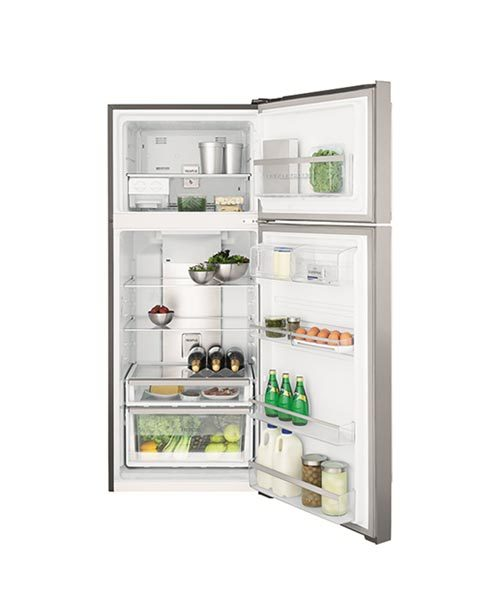 View inside Electrolux 460L Top Mount Fridge ETE4607SA