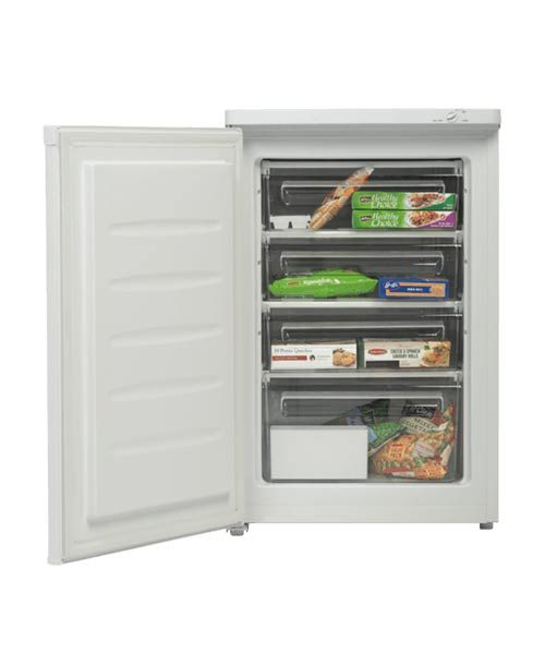 Westinghouse 90L Vertical Freezer WFM0900WC with open door