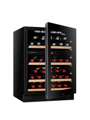 Vintec 50 Bottle Dual Zone Wine Cabinet Cellaring V40SG2EBK